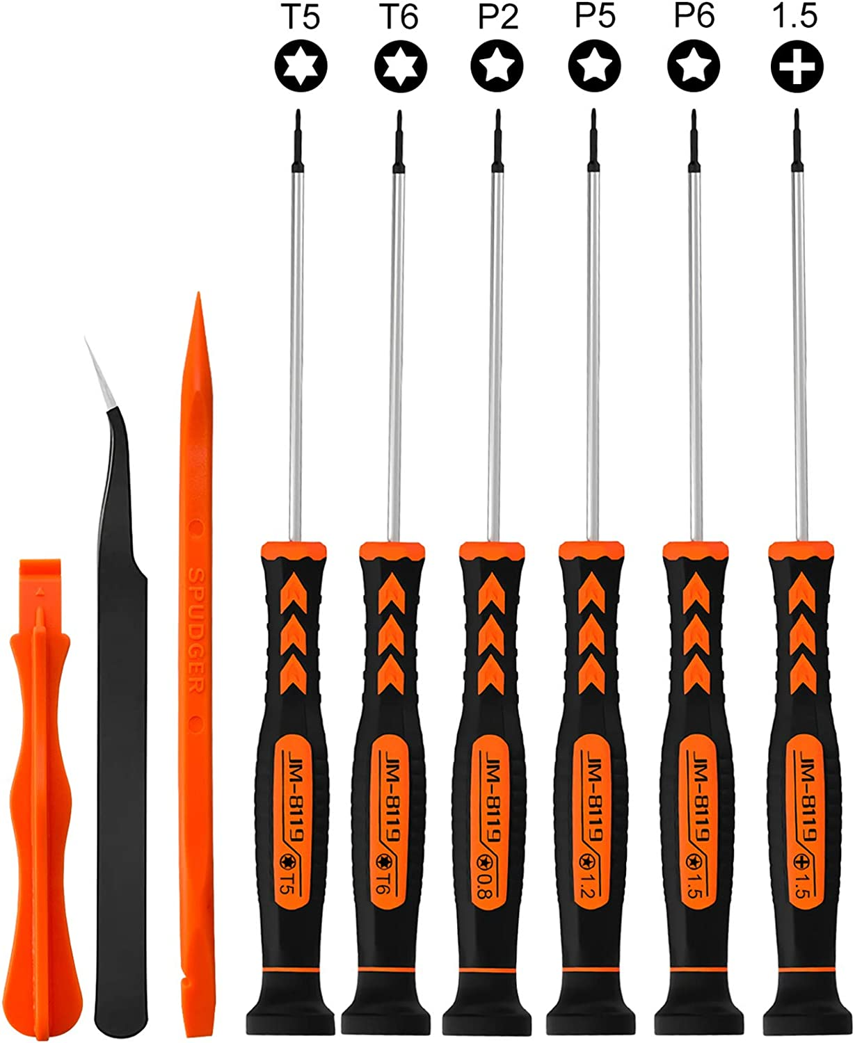 9 in1 Screwdriver Set for MacBook with T5 T6 Torx Screwdriver P2 P5 P6 Pentalobe Screwdriver Repair Tool Kit for Apple MacBook Mac Retina Pro Air