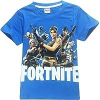 SERAPHY Shirt en Coton à Manches Courtes Fortnite T-Shirts Enfants Merveilleux Cadeaux pour Les Garçons