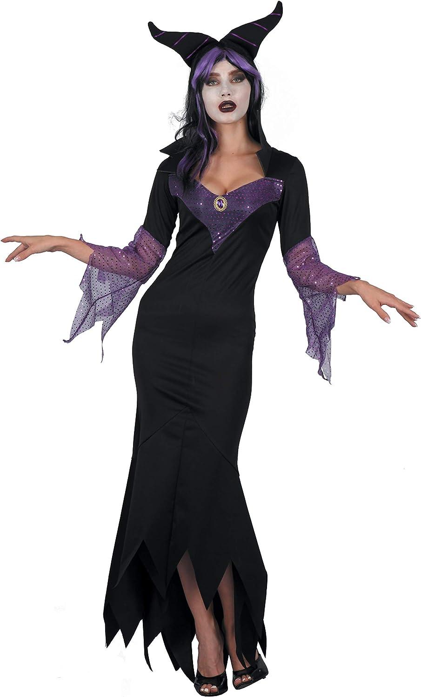 Ciao - Disfraz de bruja Maléfica para mujer, talla única, color negro y morado, 16229: Amazon.es: Juguetes y juegos