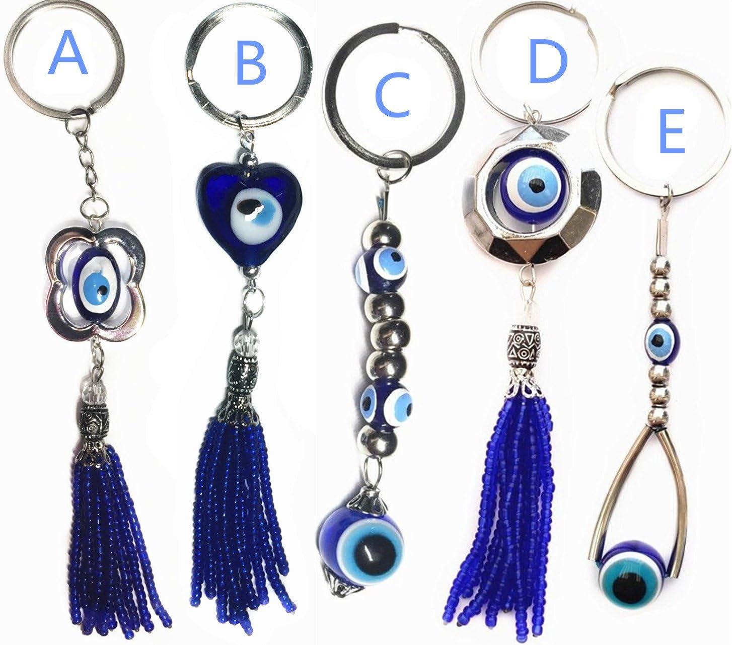 Blue Evil Eye Keychain key ring Hanging Amulet For Protection