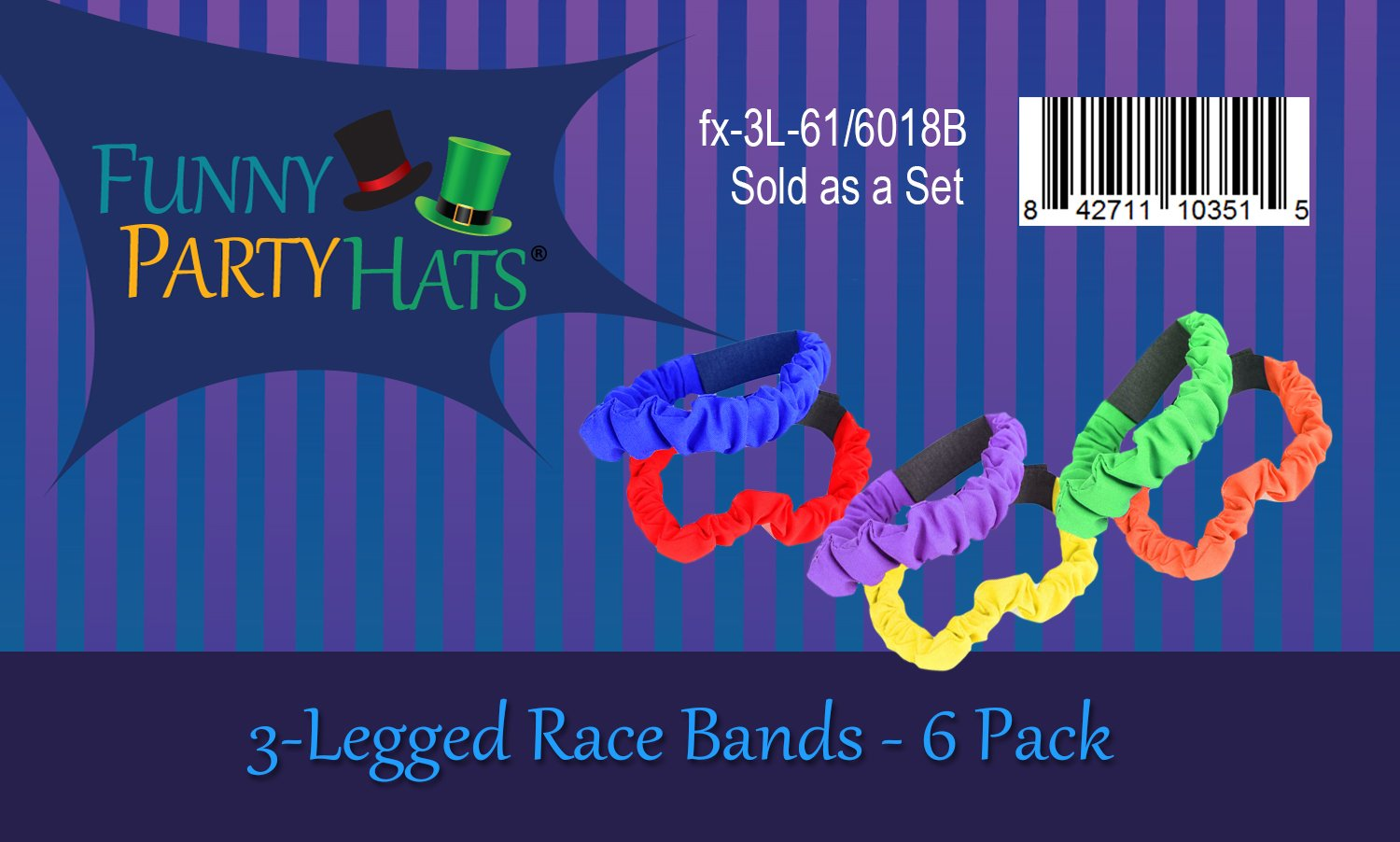 ToySharing 3 Legged Race Bands 6 Pack Durable Three Legged Race Bands Firm Soft