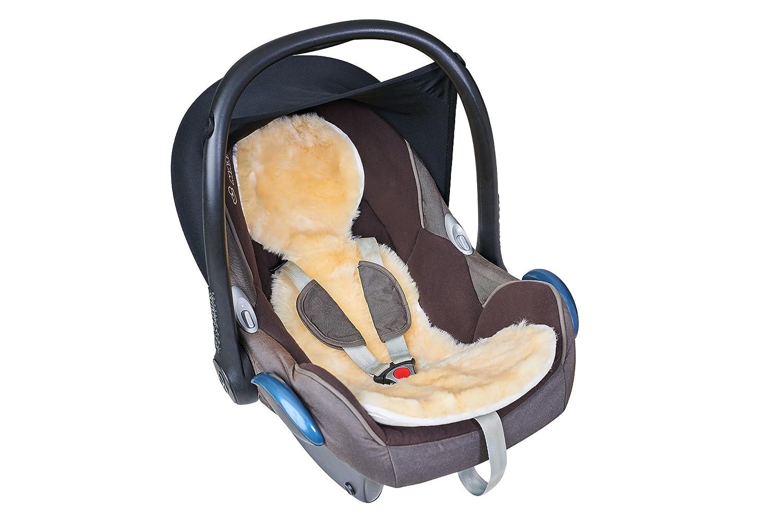 Fellhof 10407 Einlage Unifit aus Lammfell, für Autositze und Babyschalen, OEKO-TEX® Standard 100 zertifiziert, Größe 30x77 cm, bei max. 30 °C waschbar, Rückseite aus Baumwolle Größe 30x77 cm bei max. 30 °C waschbar Rückseite aus Baumwolle
