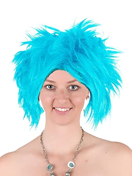 Amazon.com  Funky Spiky Blue Wig Thing1 2 Punk Wig Heat Resistant Synthetic Hair  Wig  Clothing 97a36700c
