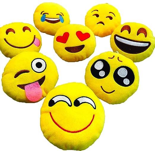 LI&HI Emoji Emoticon almohada Riendo cojín almohada Presidente Cojín Cojín redondo (travieso)
