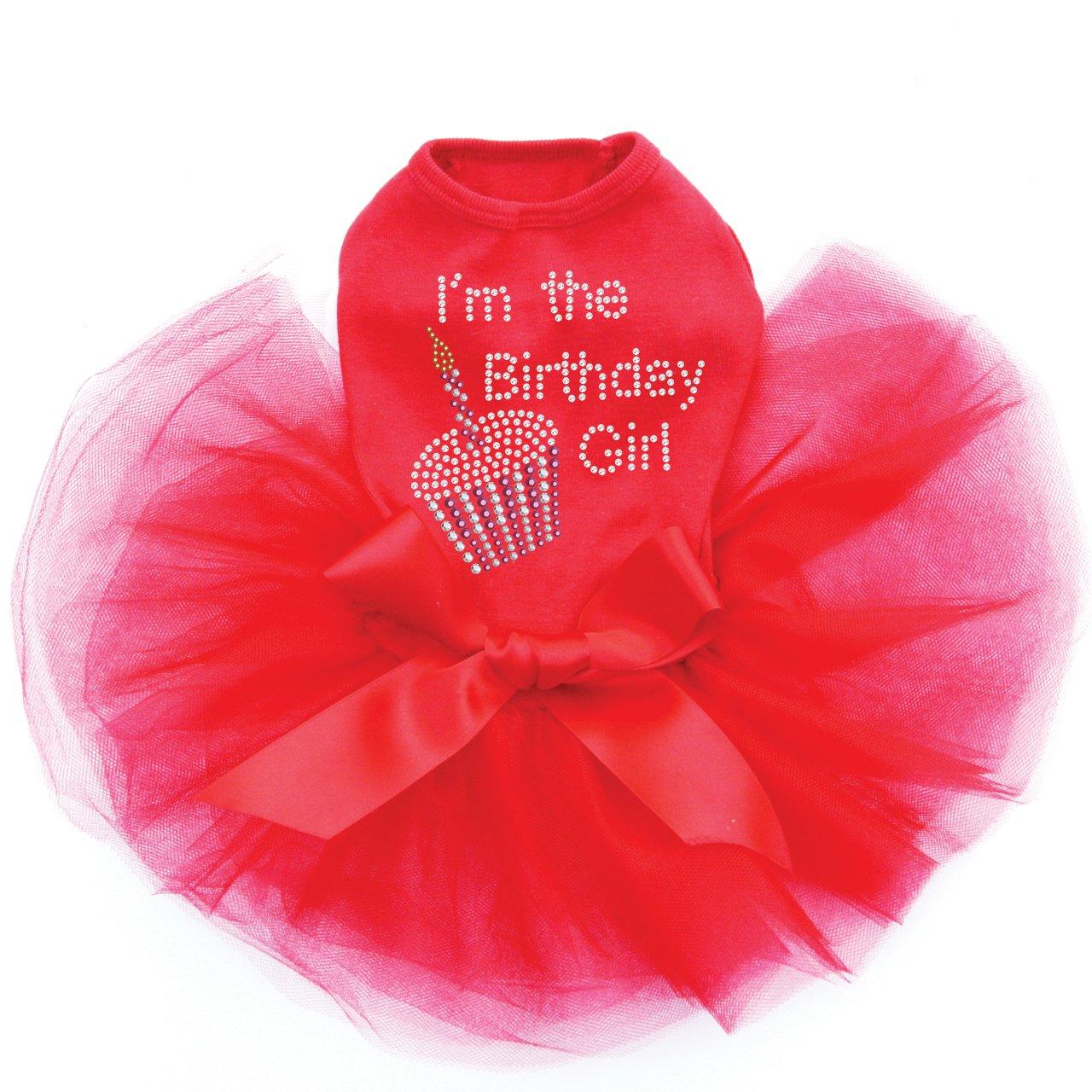 I'm The Birthday Girl - Dog Tutu Dress, M Red