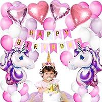 Globos Unicornios Decoración de Fiesta de Cumpleaños Feliz