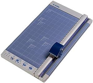 Carl 12200 Bidex Professional 10-Sheet Rotary Trimmer, Metal Base, 12 x 11