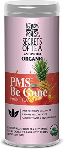 Secrets of Tea PMS BE Gone Fruit Tea PMS Relief Tea USDA Organic Loose Leaf