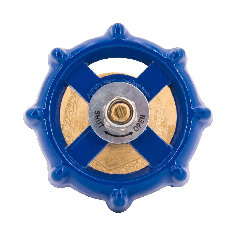 valvola dintercettazione in ottone industriale limitatore di flusso per uso commerciale 1 Saracinesca filettata femmina volantino in metallo valvola di regolazione domestico.