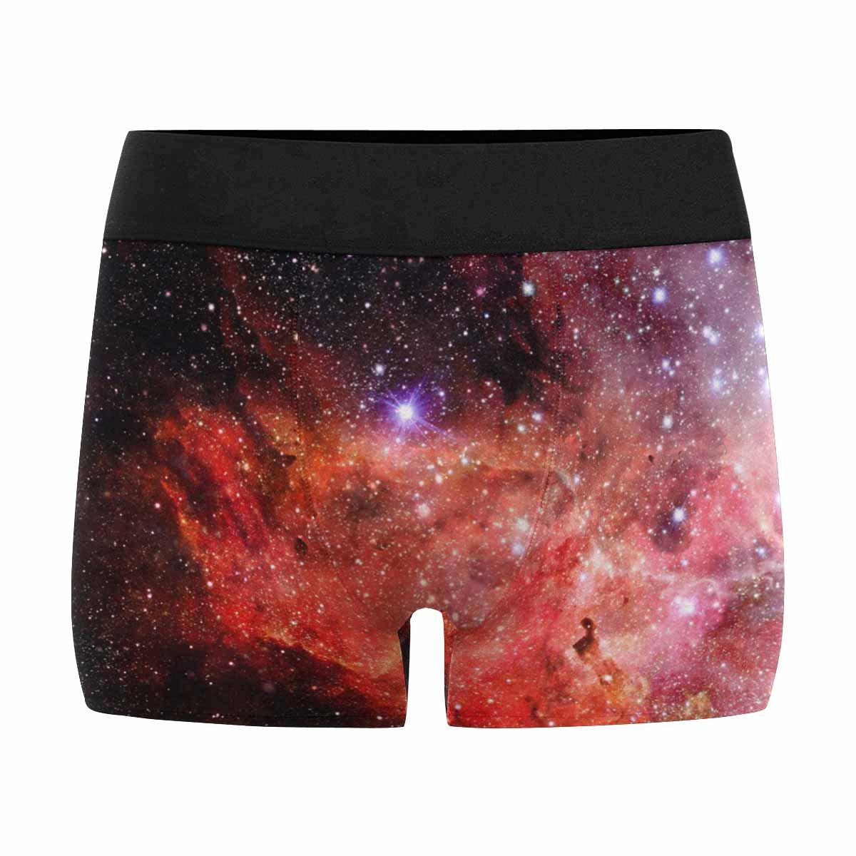 INTERESTPRINT Mens All-Over Print Boxer Briefs Abstract Scientific Background Galaxy and Nebula in Space XS-3XL