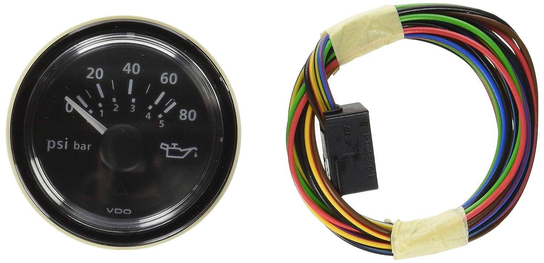 VDO Viewline 80 PSI/5 Bar Oil Pressure Gauge 12/24V - Use Sender A2C53413151-S