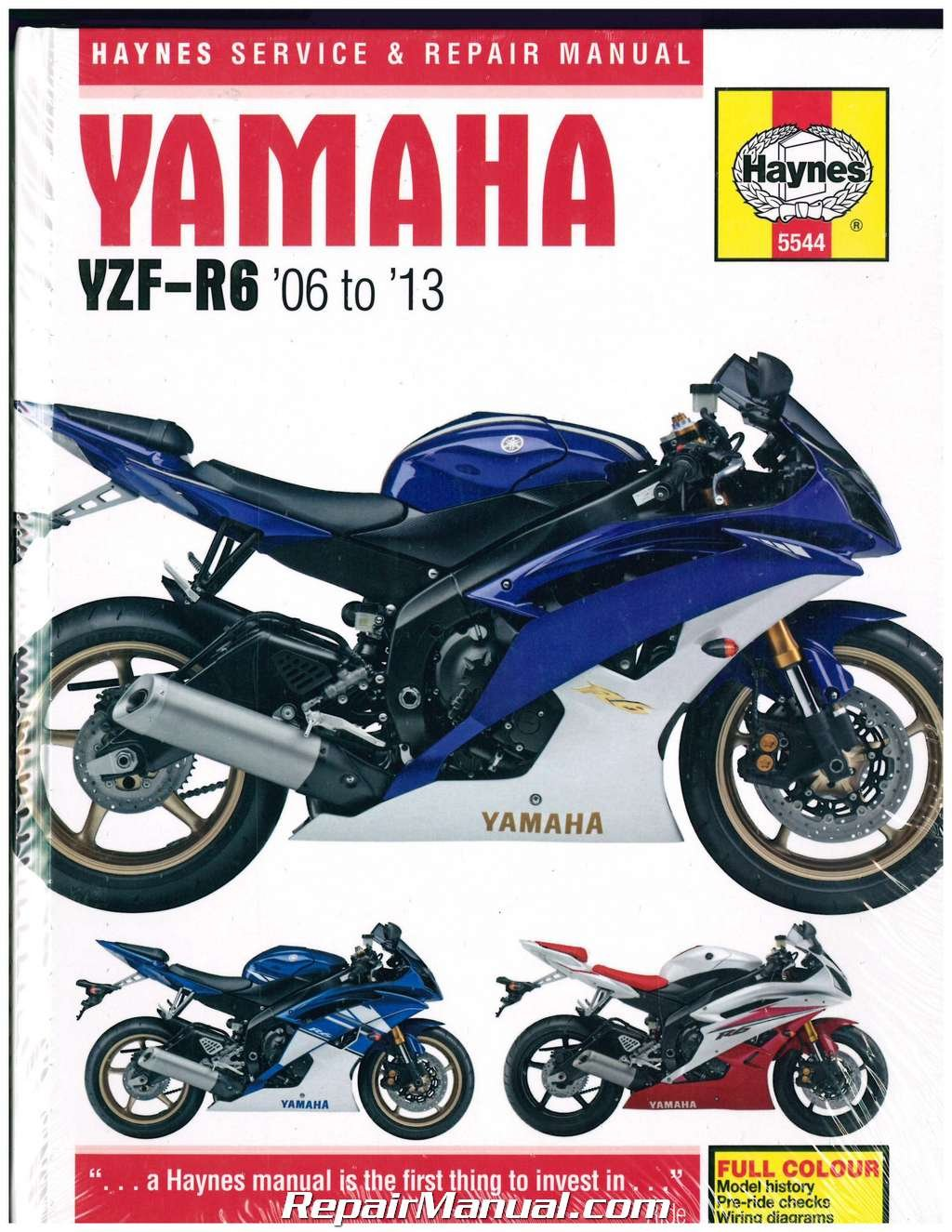 H5544 Yamaha YZF-R6 2006-2013 Haynes Motorcycle Repair Manual:  Manufacturer: Amazon.com: Books