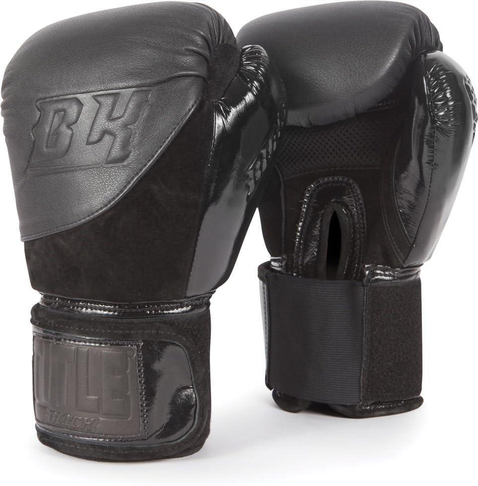 タイトルボクシングタイトルブラックblitz-fitボクシンググローブ ブラック 14 oz