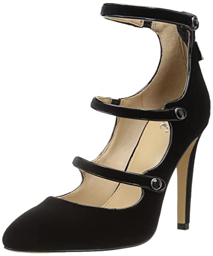4b50ad22b8f8 The Fix Women s Maya Pointed-Toe Military-Inspired Strap Pump With  Decorative Jewels