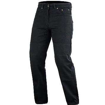 Pantalones vaqueros de corte clásico, con fibras de aramida, DuPontTM y KEVLAR®, color negro