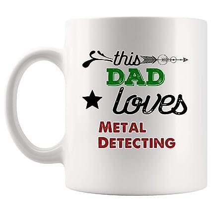 This Dad Love Metal Detecting Mug Coffee Cup Tea Mugs Gift | Father New Dad Mom