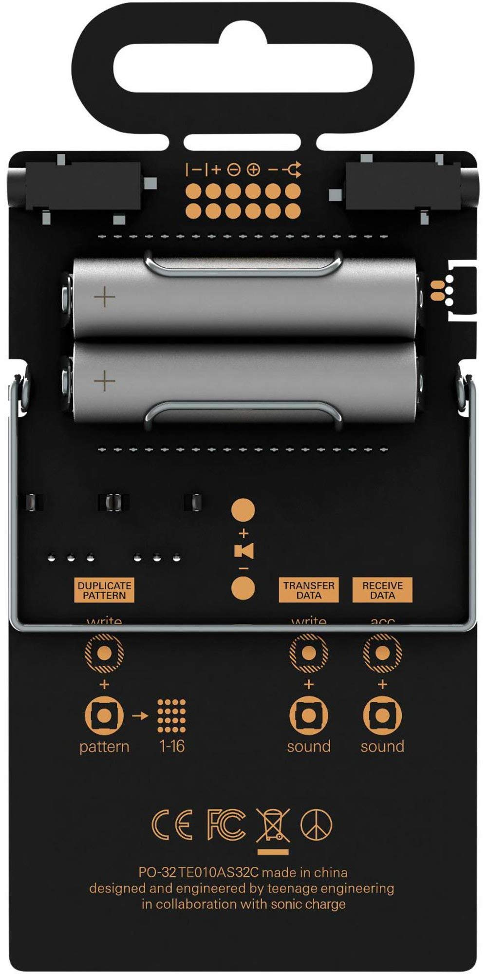 Teenage Engineering Pocket Operator PO-32 tonic Black (Certified Refurbished) by Teenage Engineering (Image #2)