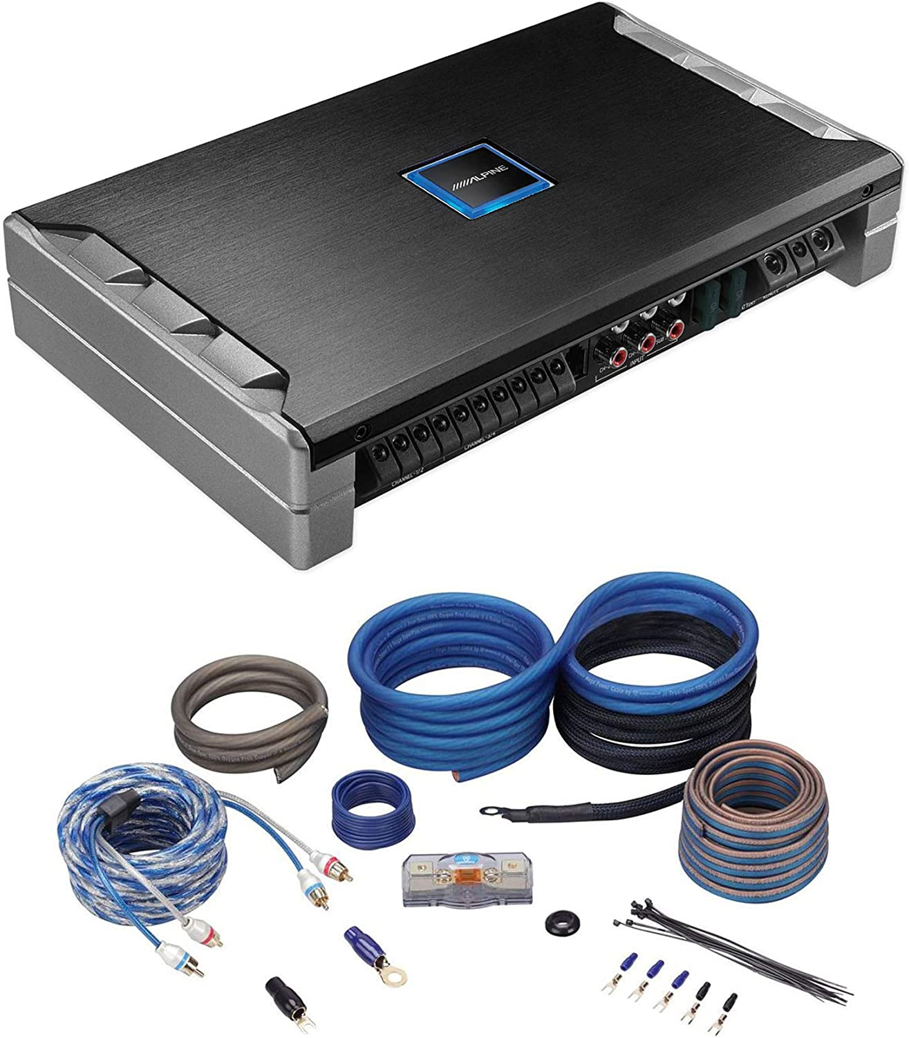 Alpine PDR-V75 5-Ch 100W RMS x 4 350W RMS x 1 Reference Car Amplifier+Amp Kit
