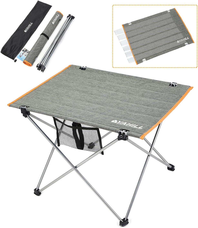 1x S//L Aluminium Tragbar Klapptisch für Picknick Camping Strand Angeln Grill