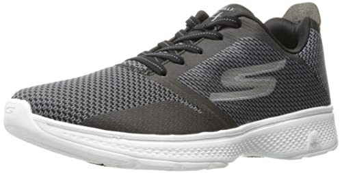Skechers Go Walk 4-Instinct, Scarpe Running Uomo, Nero (Black/Gray), 41 EU