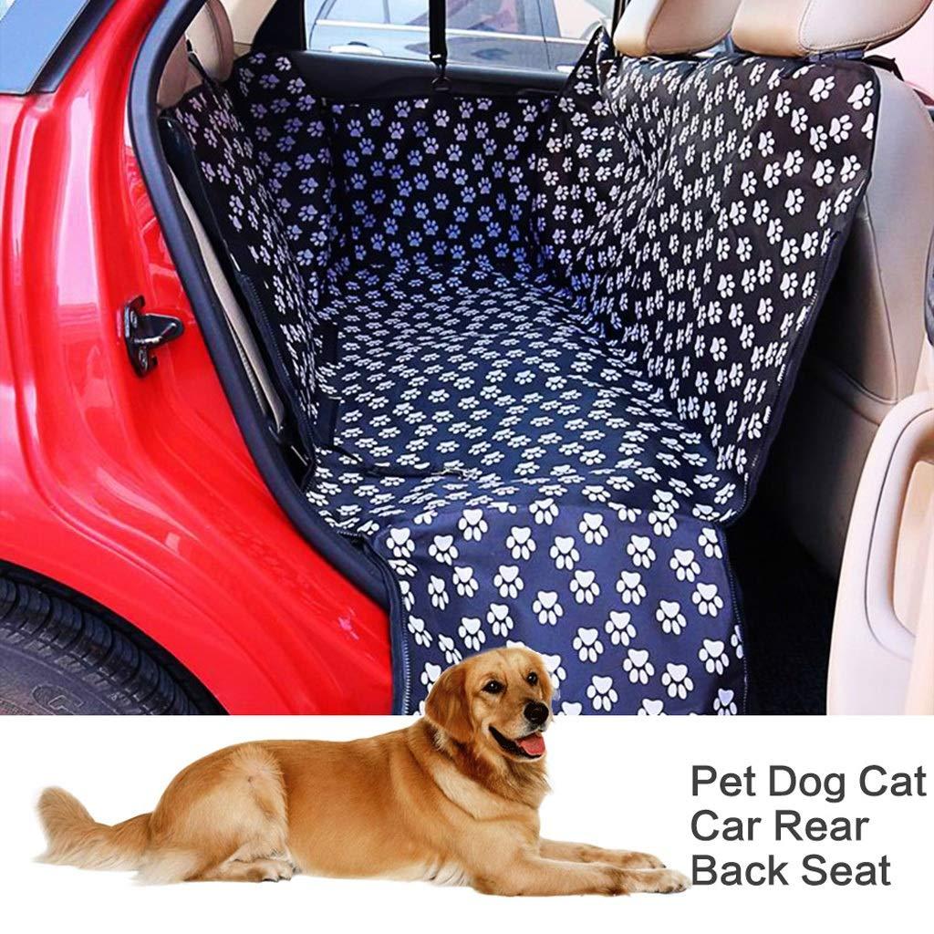 Black YSNBM Pet Backpack Pet Carrier, Oxford Fabric Car Back Seat Pet Cushion Dog Cat Carrier, Waterproof Pet Mat Hammock Cushion Predector Outdoor,Travel,Walking,seat Carrier (color   Black)