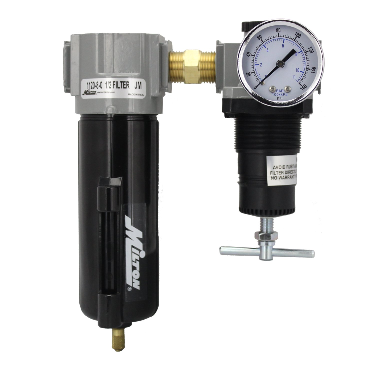 Milton 1108 1/2-Inch Filter and Regulator Duo Milton 1108 1/2 Filter and Regulator Duo