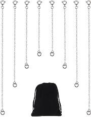 4c05c50c5d20 8 Piezas Extensor de Collar de Acero Inoxidable Extensión de Cadena de  Pulsera para Bisutería