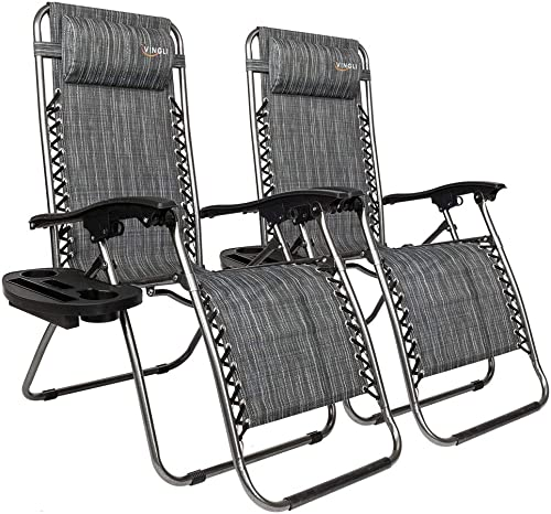 VINGLI Upgraded Zero Gravity Chair Set of 2 Lounge Outdoor Chair