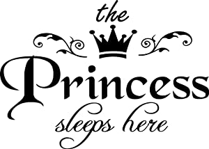 Princess Sleeps Here Wall Decal Removable Wall Sticker for Home Decor