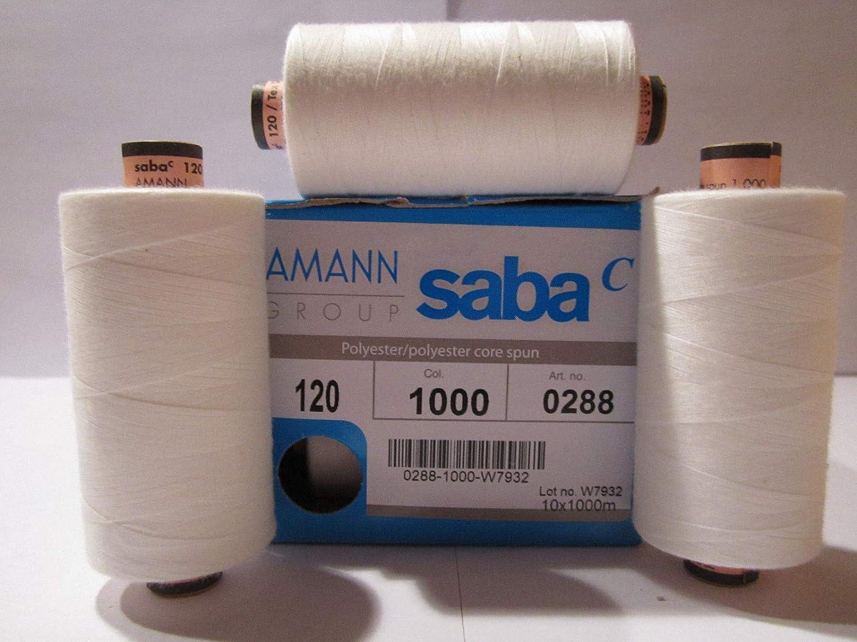 0,33€//100m Polyestergarn Saba 120//1000m Amann