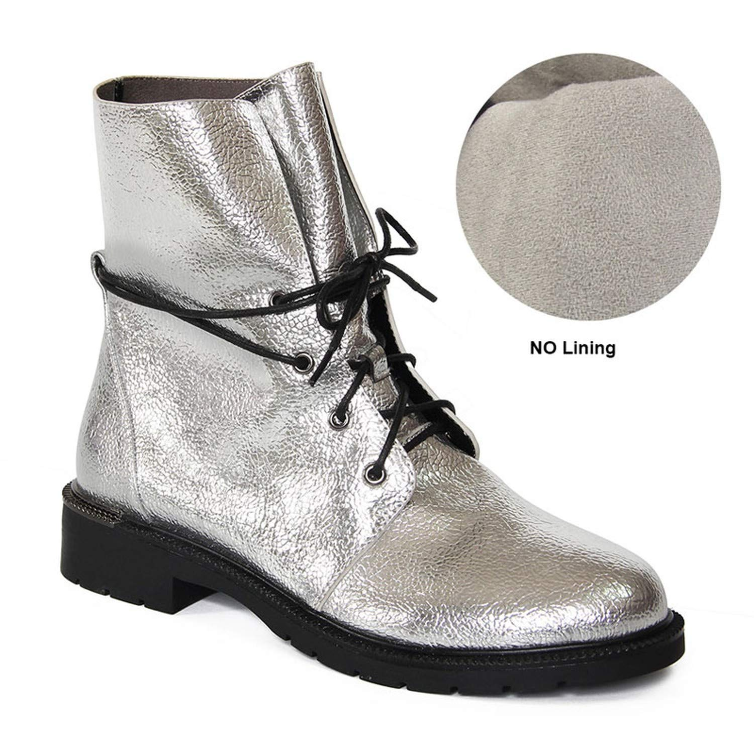 This is not a harm. Retro Winter Autumn Silver PU Leather Short Ankle Boots Women Handmade Casual Lady Shoes,H185-K1165-autumn,8.5,Russian Federation