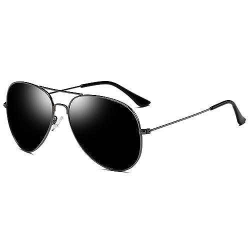 1b09e70cddf26 Joopin Classic Fashion Polarized Sunglasses Men Women Colorful Reflective  Coating Lens Eyewear Sun Glasses(Black