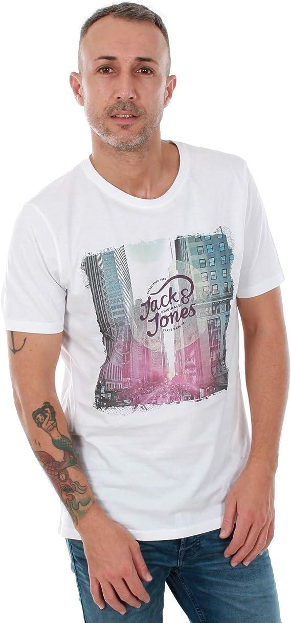 Camiseta Jack&Jones Hombre XXL Blanco 12138737 JORAUTUMN City tee SS Crew NECK2 White Slim: Amazon.es: Ropa y accesorios