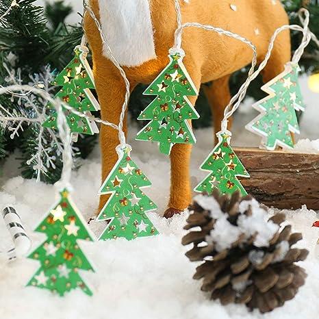 JUNMAONO Christmas Decoración, Iluminación de Navidad, Guirnalda Luces Navidad, Luces Arbol Aavidad, Navidad Decoraciones, Adornos Navideños, ...