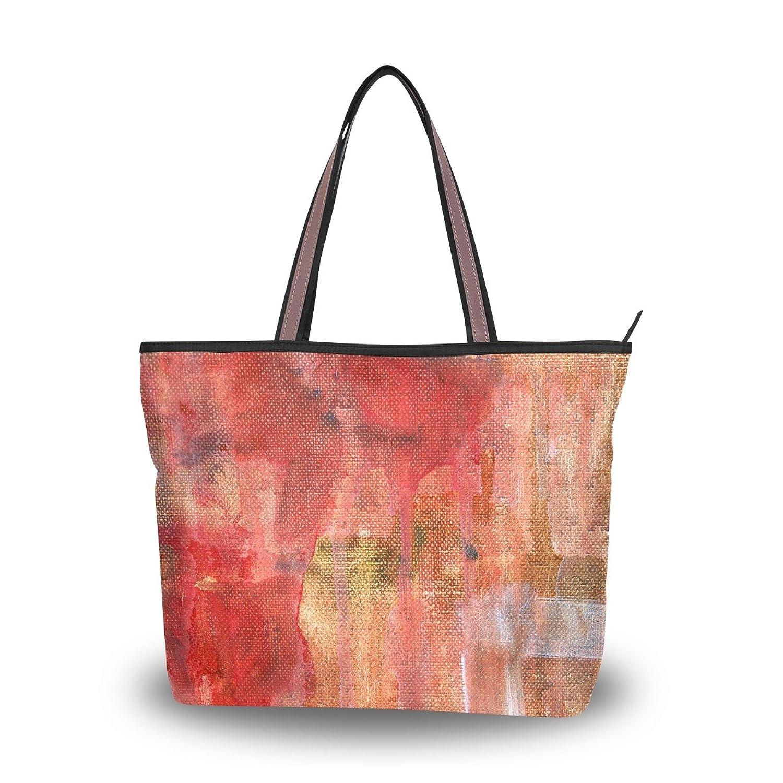 Leezone Microfiber Shoulder Handbag with Oil Paint Printing