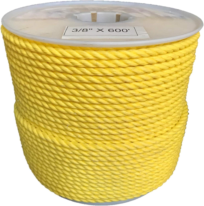 Chemical Oil GOLBERG Twisted Polypropylene Rope GOLBERG G 10 ft /– 1200 ft Moisture Nautical Rot Resistant Marine 1//4, 5//16, 3//8, 1//2, 5//8, 3//4