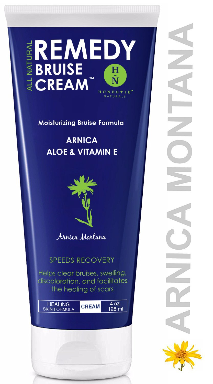 Remedy Moisturizing Bruise Formula Cream - Organic Arnica Montana - Aloe, Shea Butter & Vitamin E Speeds Healing Reduces Pain - Repair Stretch Marks,Scars,Swelling - Dermatologist Large 4 Oz