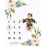 Nurture Bird Monthly Milestone Blanket Baby Girl, Photo Blanket for Newborn Baby Shower, Baby Milestone Blanket for Baby Pict