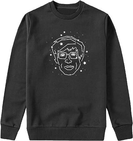 MYMERCHANDISE Stephen Hawking Fan Art Face Capucha Crewneck Sudadera Sweater Sweatshirt Camisa De Entrenamiento Cumpleaños