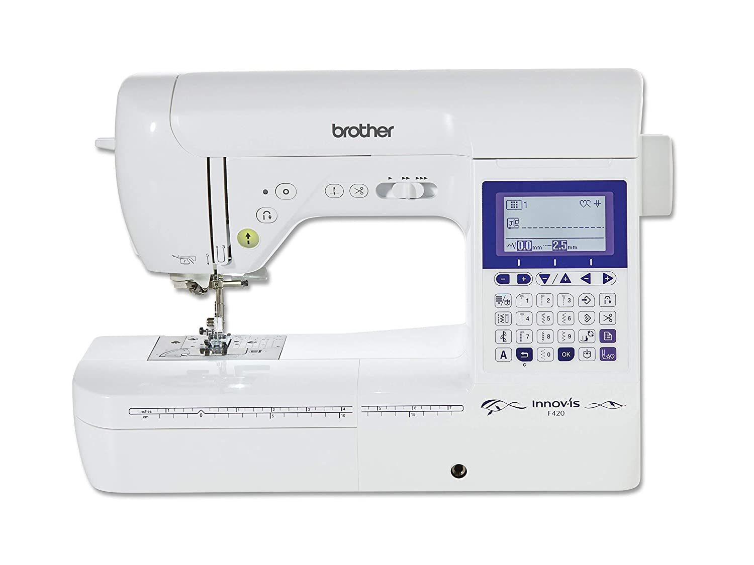 Brother Innovis F420 Máquina de Coser, Blanco, L: Amazon.es: Hogar