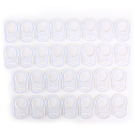 CLE DE TOUS - 30pcs Clip de silicona Baby Babé MAM RINGS DUMMY CLIPS Transparente