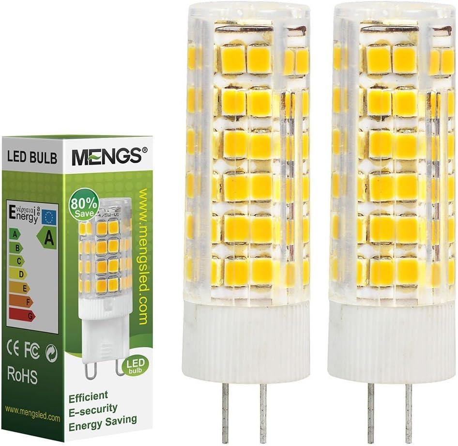 MENGS® Pack de 2 Bombilla lámpara LED 7 Watt G4, 75x 2835 SMD, blanca fría 6500K,AC/DC 12V