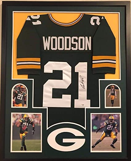 low priced 17bce fbc34 FRAMED GREENBAY PACKERS CHARLES WOODSON AUTOGRAPHED SIGNED ...