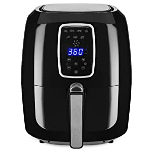 Best Choice Products 5.5qt 7-in-1 Electric Digital Family Sized Air Fryer Kitchen Appliance w/LCD Screen, Non-Stick Coating, Temp Control, Timer, Removable Fryer Basket - Black