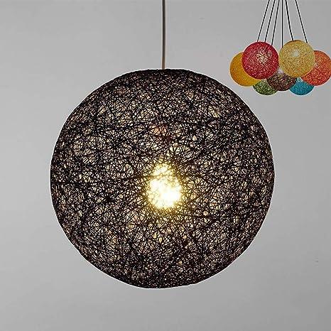 ✨Modern celosía mimbre Rattan globo bola estilo techo colgante luz pantalla creativa personalidad bar, cafetería, habitaciones, restaurante simple ...