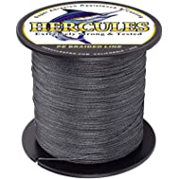 Hercules Cost-Effective Super Strong 4 Strands Braided Fishing Line 6LB to 100LB Test for Salt-Water, 109 Yards 100M, Diameter 0.08MM - 0.55MM, Hi-Grade Performance, Variety Colors