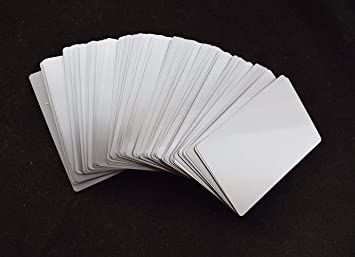 Amazon 100pcs sliver sublimation metal business cards laser 100pcs sliver sublimation metal business cards laser engraved metal business cards sublimation blanks 34x2 reheart Image collections