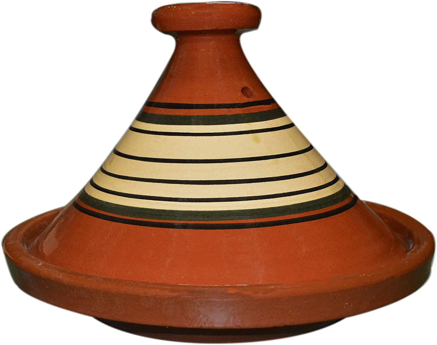 Moroccan Lead Free Cooking Tagine Glazed X-Large 13 Inches in Diameter Authentic Food