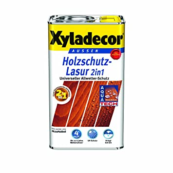 Xyladecor Lasure De Protection Pour Le Bois Extérieur 2 En 1, 5 L