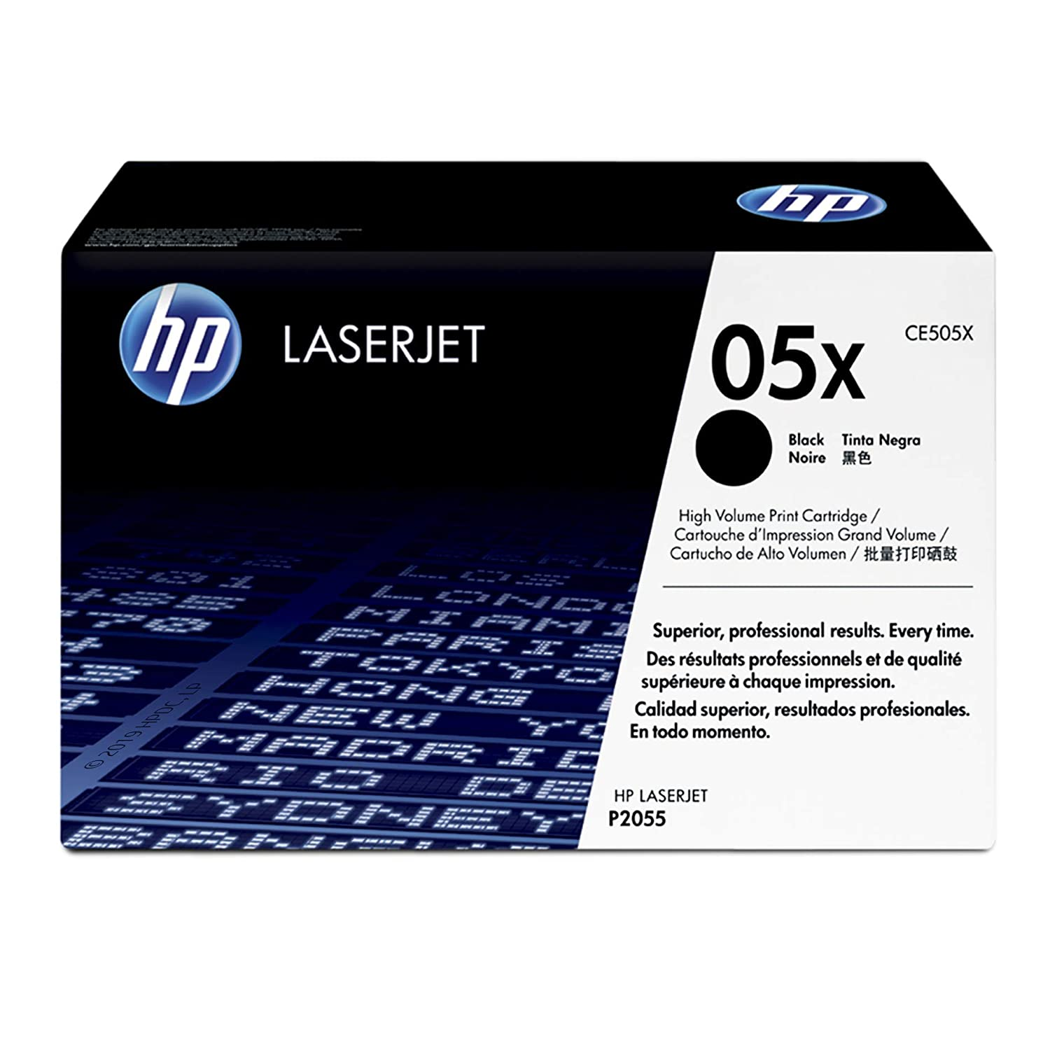 4PK CE505X 05X High Yield Black Toner For HP LaserJet P2055d P2055dn Printer